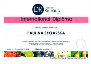 dyplom dla pauliny szklarskiej docteur renaud