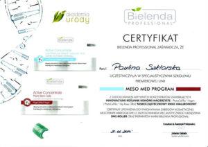 certyfikat szkolenia z innowacyjnych roślinnych komórek macierzystych