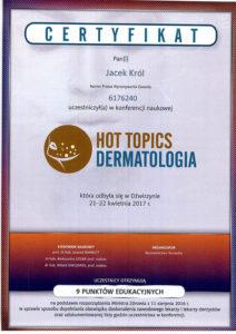 Jacek Król, konferencja naukowa, hot topics dermatologia