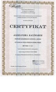 Dyplom, Aleksandra Kaczmarek, stylizacja i przedłużanie rzęs