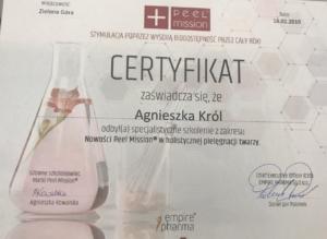Agnieszka Król certyfikat podologiczny