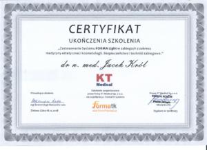 Jacek Król certyfikat dermatologiczny