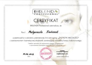 Malgorzata Krol certyfikat anti-aging