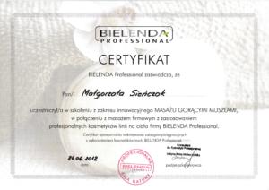 Malgorzata Krol certyfikat masaz goracymi muszlami