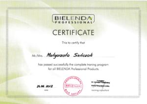 Malgorzata Krol certyfikat training program