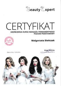 certyfikat Małgorzata Król